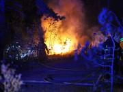 Brand i hus vid Vibyåsen