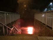 Mopedbrand i tunnel