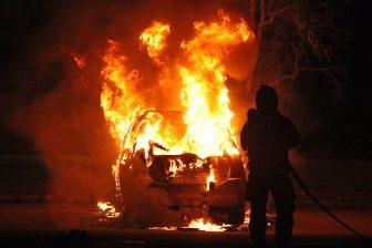 Bilbrand i Skogsängen