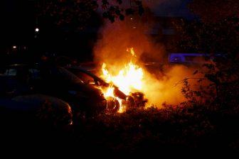 Bilbrand på Skyttegatan
