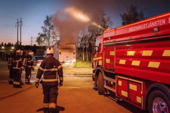 Lastbilsbrand på Emborgsgatan
