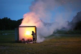 Containerbrand i Vilsta
