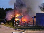 Brand i förrådsbyggnad