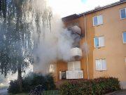 Lägenhetsbrand i Fröslunda