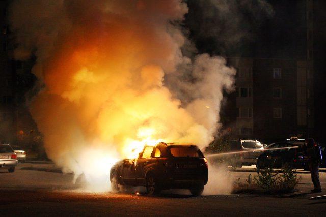 Bilbrand i Årby