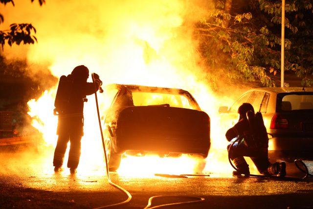 Bilbrand i Fröslunda