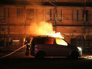 Bilbrand på Gustafsvägen