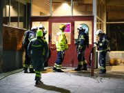 Brand vid biblioteket i Årby