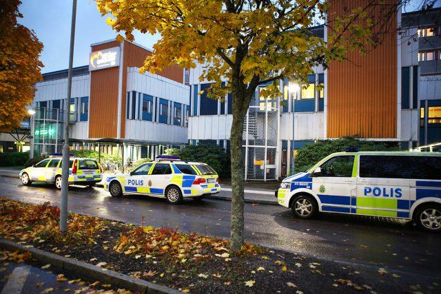 Polispådrag vid sjukhuset