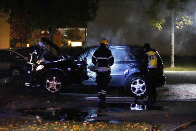 Bilbrand på Skiftingegatan